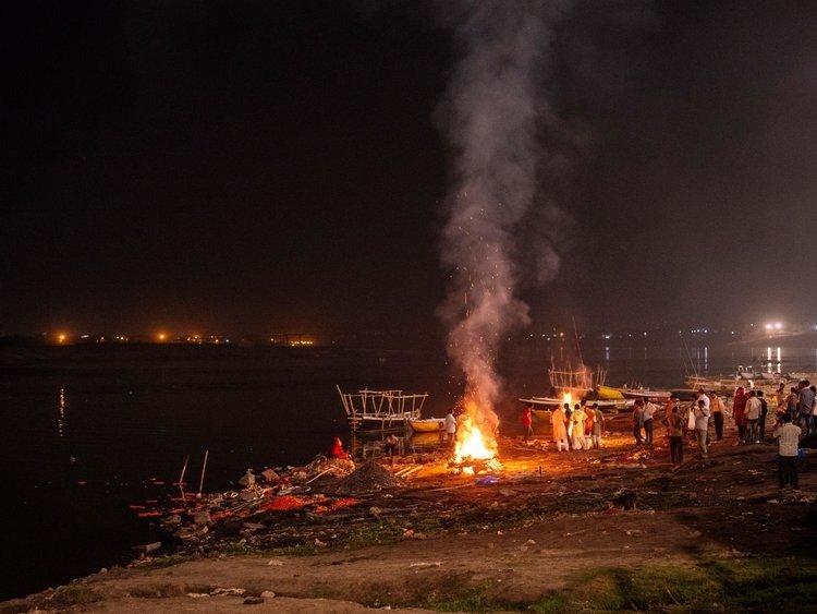 The Burning Ghat after Dark