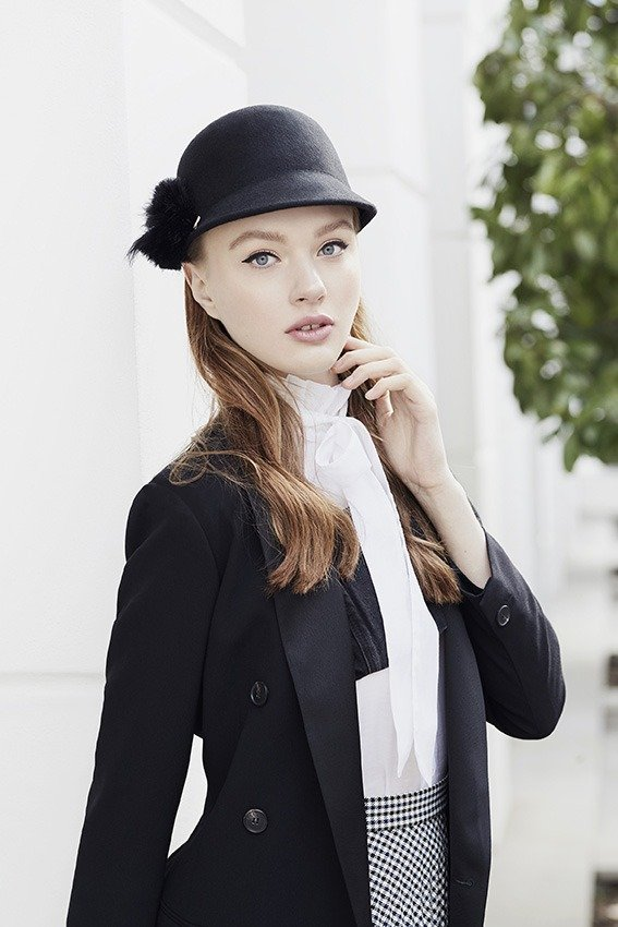 Model in photo studio by JOHANNES WIENKE