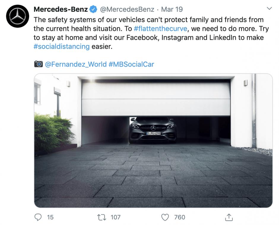 Mercedes-Benz approach to coronavirus pandemic