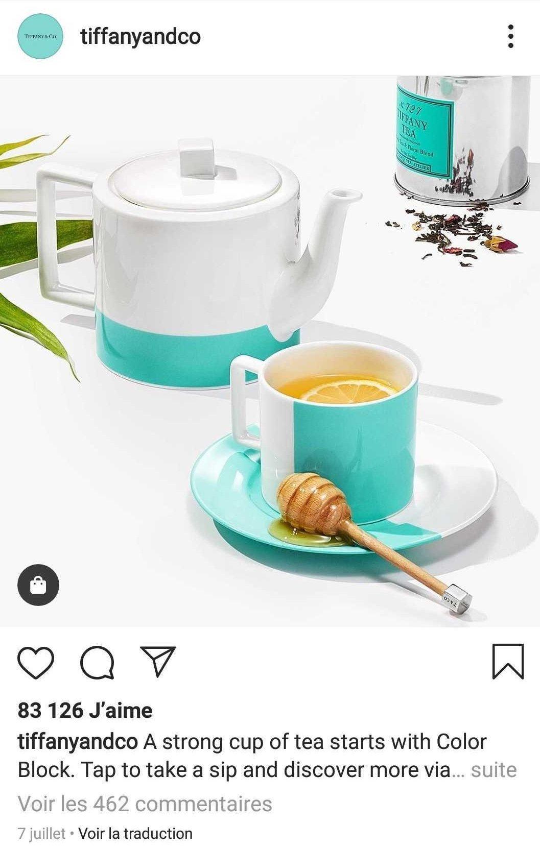 Tiffany & Co Instagram account