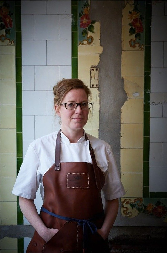 female top chef portrait in london from photographer clare lewington