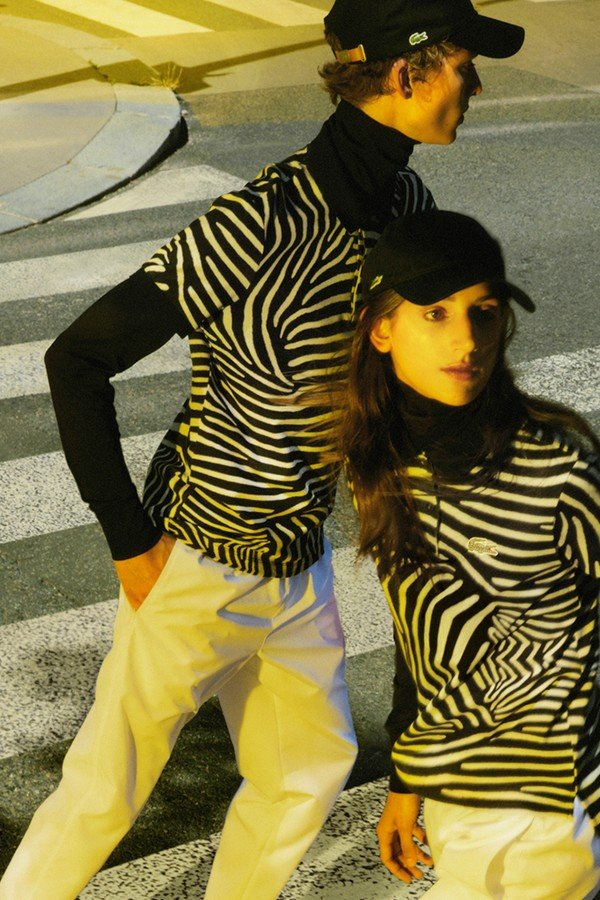 Lacoste and National Geographic wildlife collection zebra