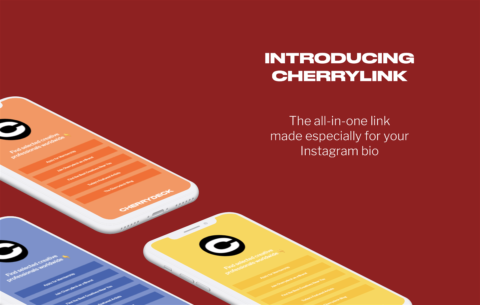 Cherrylink - the all in one link for the Instagram bio