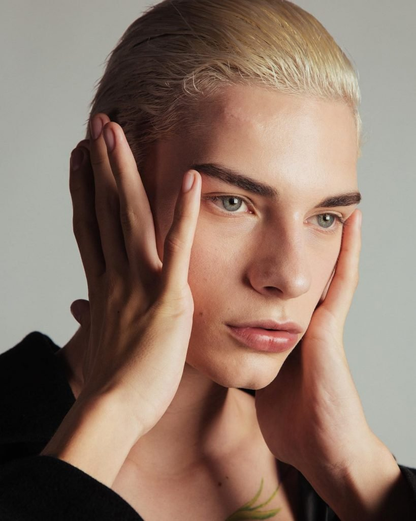male portrait model