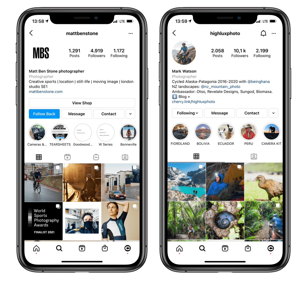 bio ideas for Instagram photography pages